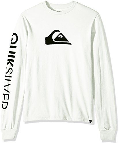 Quiksilver Mens Mountain and Wave Logo Long Sleeve Tee