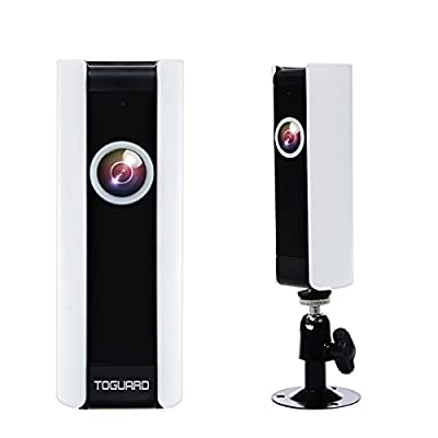 TOGUARD Mini HD Wifi Video Surveillance Camera Home Baby Monitor Camera with 185° Panorama View Fisheye Lens, Night Vision, Real-time Intercom, Motion Detection, Remote Monitoring