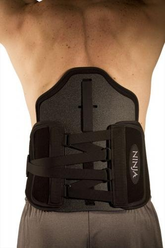 Ninja PRO Spinal Support 5X-Large With Optional Panel 65''- 73'' (Black)