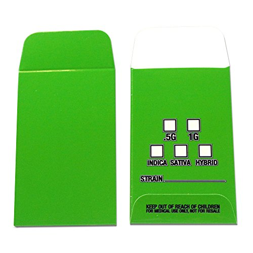 500 Green White Wax Extract Coin Envelopes Premium High Gloss Color Envelopes #032 by Shatter Labels
