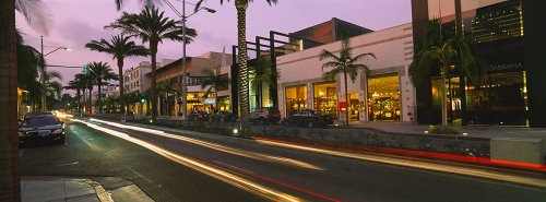 Walls 360 Peel & Stick Wall Murals: Rodeo Drive with Blurred Lights (72 in x 26.75 in) ()