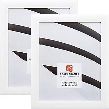 Amazon.com - ArtToFrames 17x22 inch Satin White Frame Picture Frame ...