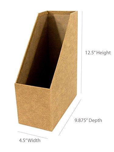 Cardboard Magazine Holder Blu Monaco Office Supplies Desk Organizer Set of 41 – File Tray 34