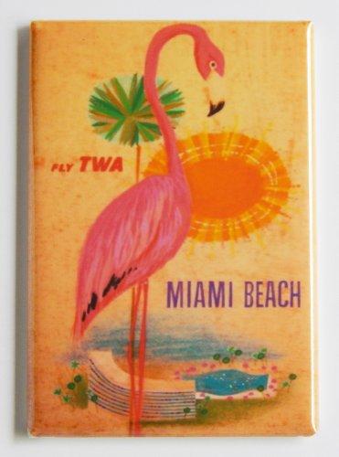 (Miami Beach Travel Poster Fridge Magnet (2.5 x 3.5 inches))