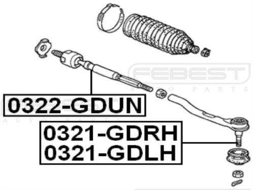 FEBEST 0321-GDLH Left Tie Rod End