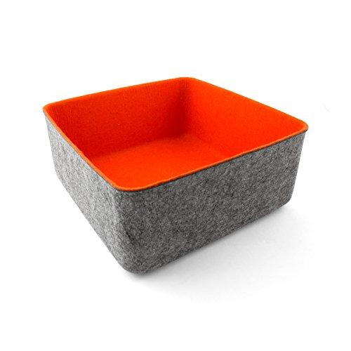 Three By Three Seattle Felt Organizer, Orange (48001)