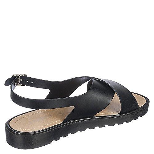 Bamboe Putter-01 Sandaal Zwart