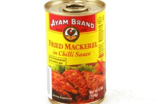 Fried Mackerel in Chili Sauce - 5.5oz (Pack of 6) by - Fried Mackerel