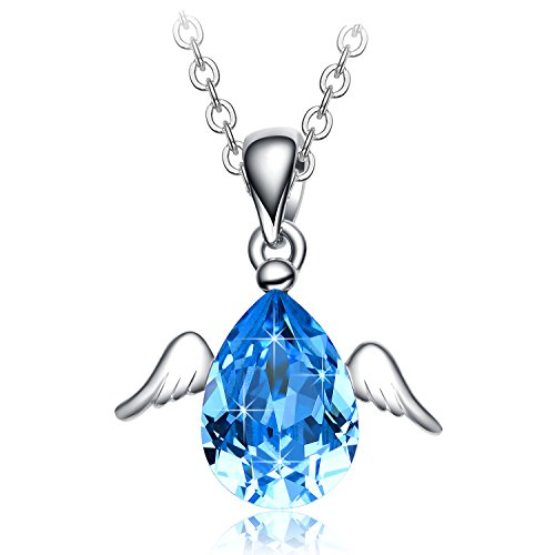 Christmas Gifts for Women NEEMODA Blue Crystal Necklace Pendant