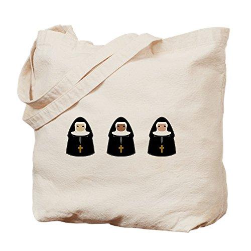 CafePress–Cute Nonnen–Leinwand Natur Tasche, Reinigungstuch Einkaufstasche, canvas, khaki, S