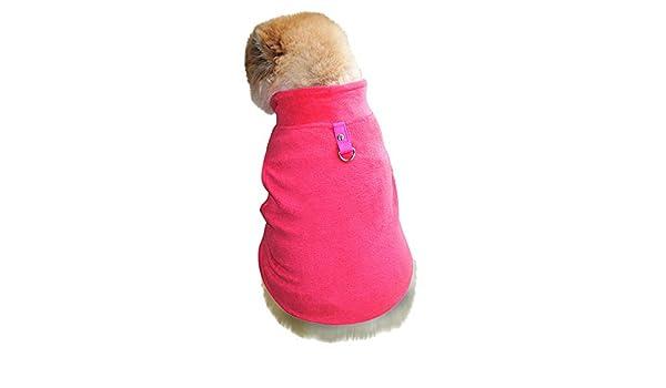 Fossrn Ropa Perro Invierno Chaleco de Solapa de Lana para Mascotas