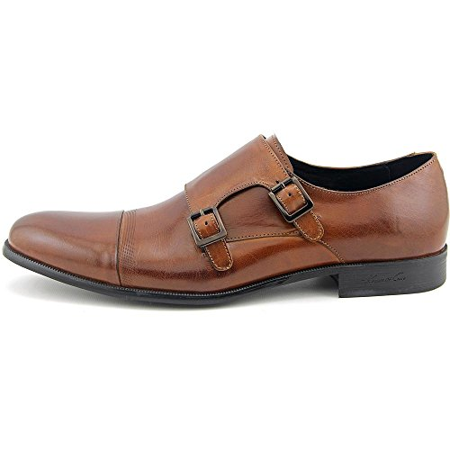 Kenneth Cole New York Hommes Mis-chief Double Chaussures Monkstrap Marron