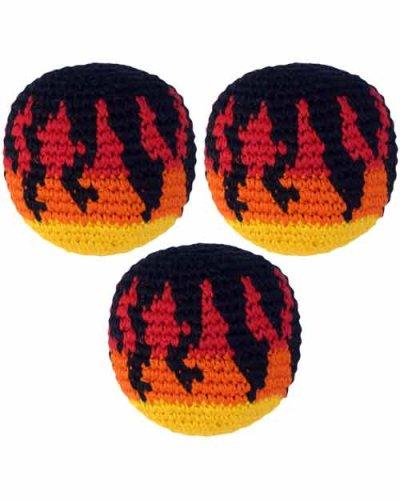 Set of 3 Hacky Sacks, Fire