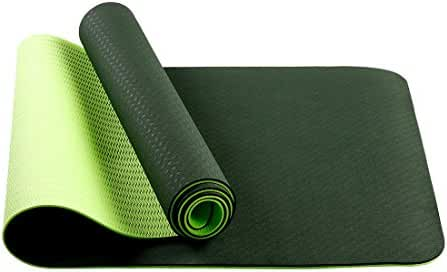 Non-slip Yoga Mat by Farland - Eco Friendly Workout Exercise Mat,Anti-tear Hot Pilates Pad Mats in Home & Gym - 6mm Thick