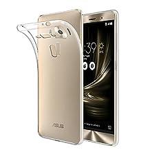 "ASUS ZenFone 3 Deluxe 5.7"" Case, Qosea Crystal Clear Scratch Proof Transparent TPU Protective Cover Ultra Slim Lightweight Transparent Soft Gel TPU Silicone Case for ASUS ZenFone 3 Deluxe 5.7"""