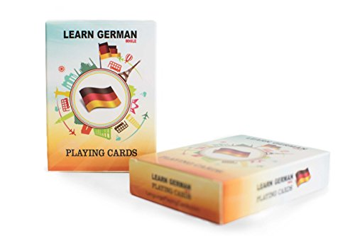 Language Playing Cards German Language Learning Game Set | Fun Visual Flashcard Deck to Increase Vocabulary Skills - Learn German Numbers and 52 Useful Phrases. ()