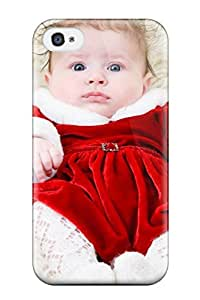 Durable Case For The Iphone 4/4s- Eco-friendly Retail Packaging(adorable Cute Baby Girl)