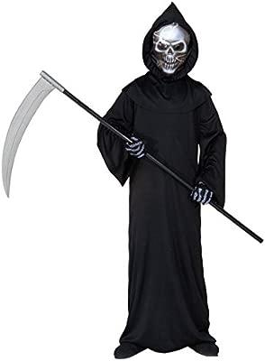 NET TOYS Disfraz Infantil para Halloween Traje Muerte Horror ...