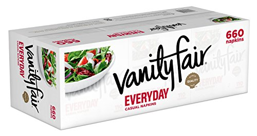 Large Product Image of Vanity Fair Everyday Napkins, 660 Count, White Paper Napkins