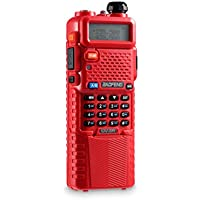 BaoFeng UV-5R Two-way Radio Walkie Talkies, Dual Band, 128 Channels with 3800mah Battery and Earpiece
