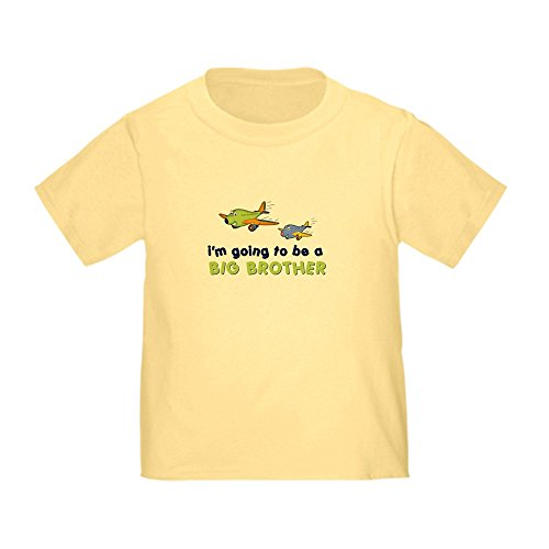CafePress - :::big brother plane front only ::: Toddler - Cute Toddler T-Shirt, 100% Cotton (Yellow Front T-shirts Only)