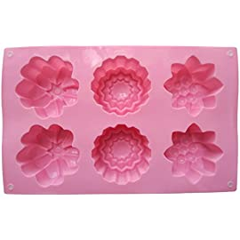 Silicone Flower Soap Molds - LeBeila Large Shapes Silicon Mold Diy Handmade Soap Making Bar Non Stick Baking Pan For Cupcake Biscuit Chocolate Muffin Ice Cube Trays Moulds Supplies 61 ► EXCELLENT SILICONE MOLDS FOR BAKING - Heat Resistant Temperature -40 to +230 Centigrade (-40 to 446 F). Conforms to the American FDA quality, innoxious, no peculiar smell, soft, waterproof, easy to demould, easy to clean, durable for long time use. Pretty silicone baking molds flower design, silicone baking molds shapes ► RELIABLE QUALITY - The silicone molds for baking are made of 100% consumption level of silicone gel ► DIMENSIONS - Silicone Baking Molds Shapes Mold: 10.23''x6.9'' (26.0x17.5cm)