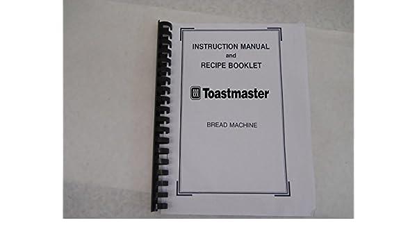 Toastmaster Pan máquina eléctrica manual de instrucciones y ...