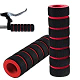 Bike Grips Handlebar Cover Handle Grip Cover Sleeve Bamboo Sponge Shock Absorption Non-slip Comfortable for Mountain Bike 1 Pair