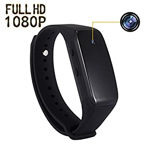 SP FULL Smart Bracelet Small Camera, Black Adjustable Wristband Mini Camera