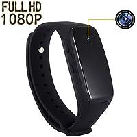 SP FULL Smart Bracelet Small Camera, Black Adjustable Wristband Mini Camera