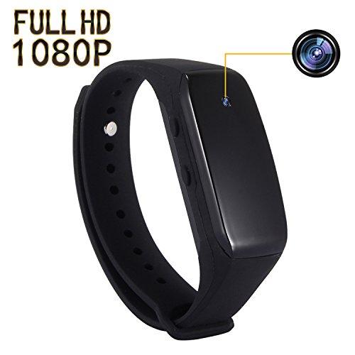 SP FULL Smart Bracelet Small Camera, Black Adjustable Wristband Mini Camera (Bracelet Silicone Usb)
