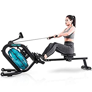 Well-Being-Matters 41kbXPjfLlL._SS300_ Merax Water Rowing Machine – Fitness Indoor Water Rower with LCD Monitor Home Gym Equipment