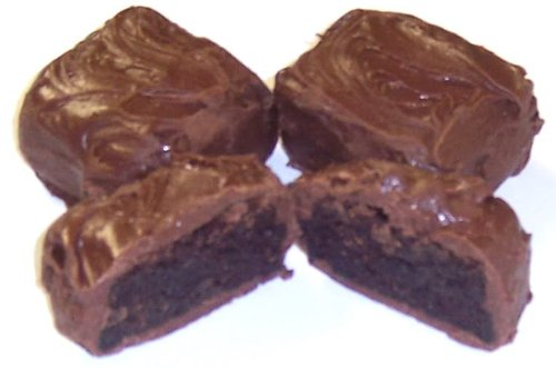 Scott's Cakes Milk Chocolate Covered Brownie Bites in a 1 Pound Clear Cello Bag
