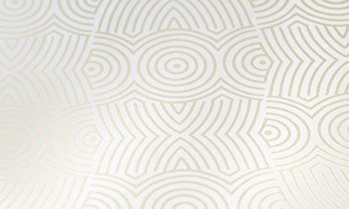 York Wallcoverings Target Block PX8876 Geometric Wallpaper, Vanilla White