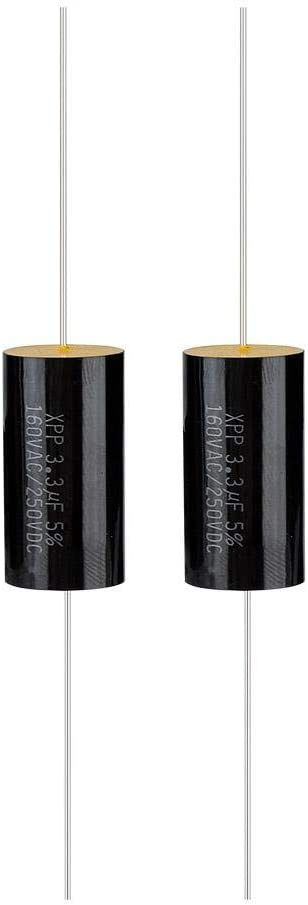 Sanpyl 2PCS Capacitor Frequency Divider Capacitance Audio Speaker Capacitor,Pure Copper Wire Pins for Car Treble,Loudspeaker Frequency Divider 2.2uF