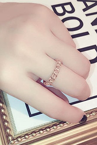 Generic Japan and South Korea new fashion trend in Europe and America rose gold delicate temperament Beautiful tail ring ring ring opening women girls lady
