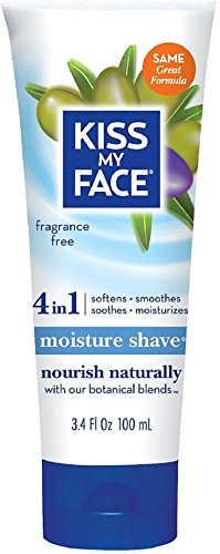 Kiss My Face Moisture Shave, Fragrance Free 3.4 oz (Pack of 12) by Kiss My Face
