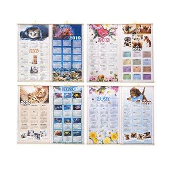 Calendar Scroll Wall 2019/2020 2 Sided 12.5X22IN 4AST Design