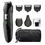 Remington All-in-One Grooming Kit, Lithium Powered, 8 Piece Set with Trimmer, Men's Shaver, Clippers, Beard and Stubble Combs, PG6025