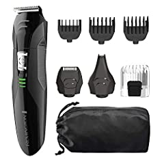 The REMINGTON All-In-One Grooming Kit gives you the power of precision with complete versatility for all of your grooming needs. The kit includes: a full- size trimmer; foil shaver; nose, ear and detail trimmer; hair clipper comb with 8 lengt...