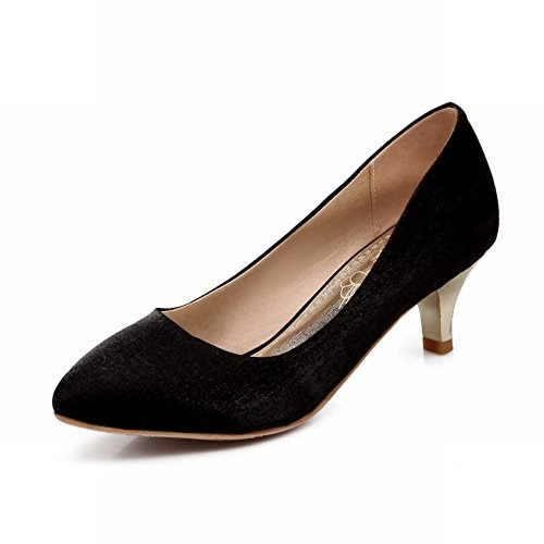 Carolbar Chic Mujeres Sexy Bailando Vestido De Punta Estrecha Del Dedo Del Pie Del Estilete Del Talón Del Vestido De La Bomba Zapatos Negro