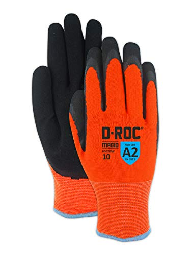 Magid Safety Hi-Viz Waterproof Thermal Nitrile Coated Acrylic Work Gloves - Size 8 (1 - Waterproof Gloves Thermal