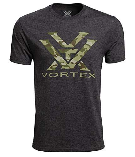 - Vortex Optics Camo Logo Short Sleeve Shirts - Charcoal Heather - Large