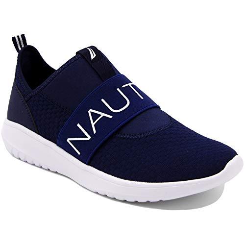 Nautica Women Fashion Slip-On Sneaker Jogger Comfort Running Shoes-Rosemont-Navy-8
