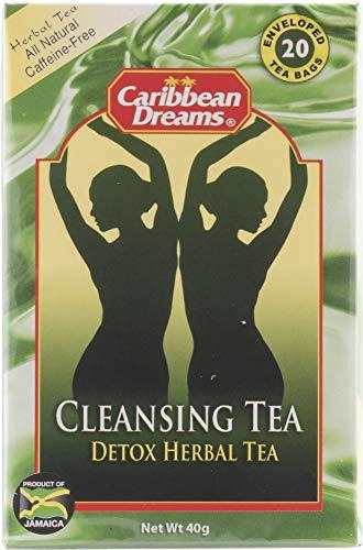 Caribbean Dreams Cleansing Tea, 20 Tea Bags, Herbal Detox Tea, All Natural, Caffeine Free (Packaging May Vary)