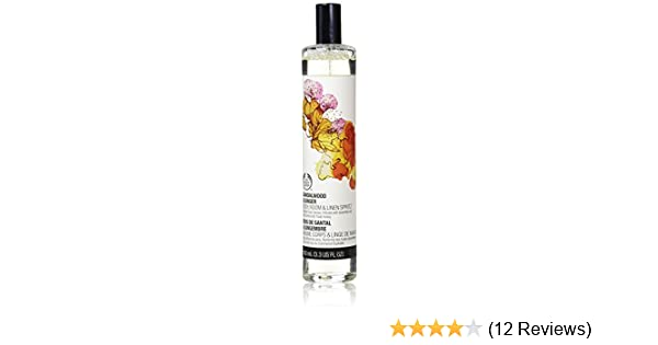 Amazon.com : The Body Shop Scented Body, Room & Linen Spritz Spray - Sandalwood & Ginger - 100ml : Scented Oils : Beauty