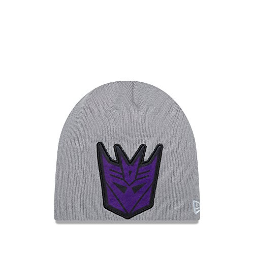 Era New Toque (New Era Cap Men's Decepticons Oversizer Knit Beanie, Gray, One Size)