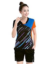 BOZEVON Badminton Uniforms Set Clothing Sportswear 2 PCS