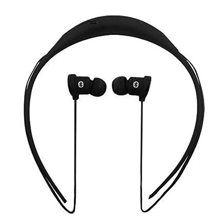eDealMax Deportes estéreo Bluetooth Manos libres inalámbrico colgante del Cuello Auriculares Auricular Negro