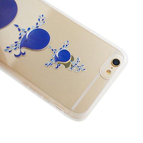 Voguecase® für Apple iPhone 6/6S 4.7 (4,7 zoll) hülle, Schutzhülle / Case / Cover / Hülle / TPU Gel Skin (Blauwal) + Gratis Universal Eingabestift